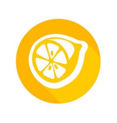 round icon fresh lemon vector image