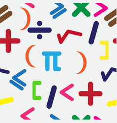 seamless background with mathematical signs vector image