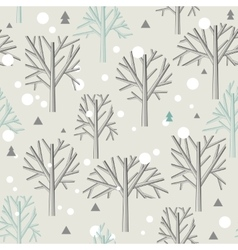 Seamless pattern for Winter forest and christmas vector