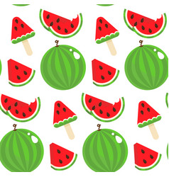 seamless pattern watermelon vector image