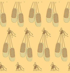 seamless pattern with bast shoes vector image