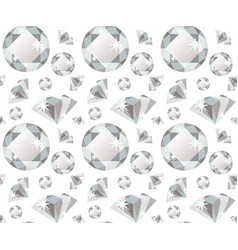 seamless pattern with diamonds in flat style vector image