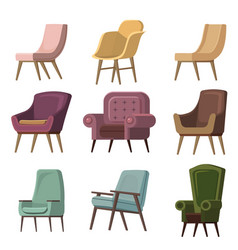 set of chair to use in animation vector image