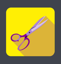 sewing scissor concept background cartoon style vector image