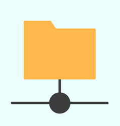 Shared folder icon simple minimal 96x96 pictogram vector