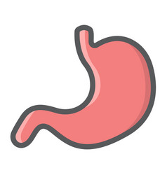 stomach filled outline icon medicine healthcare vector image