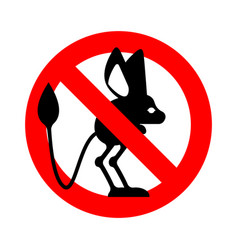 stop jerboa ban steppe animal is forbidden red vector image