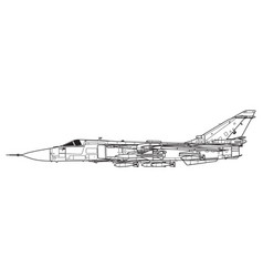 sukhoi su-24 fencer vector image