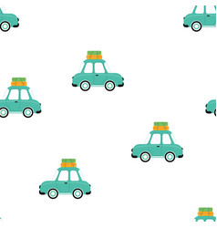 summer vacation print car vector image
