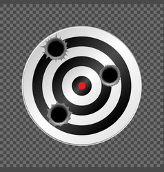 target with bullet holes vector image