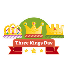 Three kings day vector