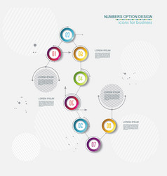 timeline infographic template 8 step option design vector image
