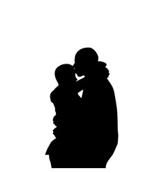 two couples embracing each other vector image