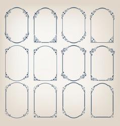 Vintage circle frames vector