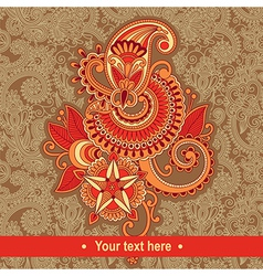 vintage floral pattern with place for your text vector image