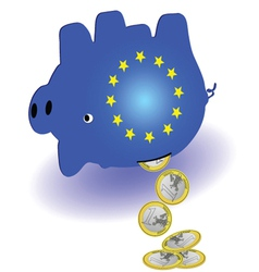 waste of money in the piggy bank vector image