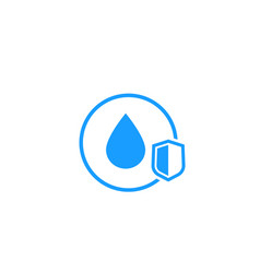 Waterproof icon with shield vector