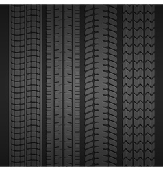Wheel tire set vector image