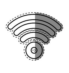 Wifi internet zone vector image