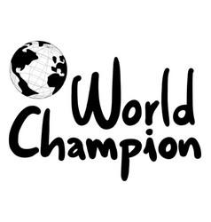 World champion vector