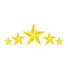Yellow gold stars with highlighted edges glitter vector