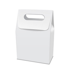 blank white 3d model cardboard take away food box vector image