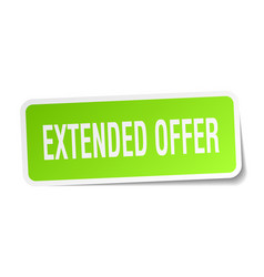 extended offer square sticker on white vector image vector image