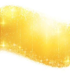 Golden sparkling Christmas background vector image vector image