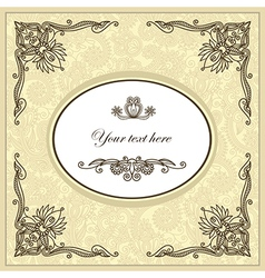 hand draw ornate floral vintage template vector image vector image