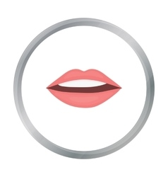 Lips icon in cartoon style isolated on white vector image