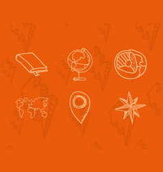 science class and school scribbles vector image vector image