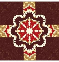 Seamless oriental ornamental pattern in brown vector image