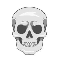Skull icon black monochrome style vector image vector image