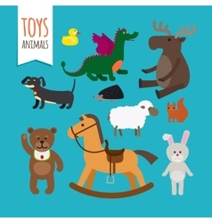 Toys Animals vector image vector image