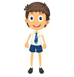 a boy in school uniform vector image