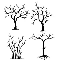 collection of dead trees vector image vector image
