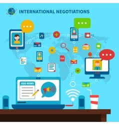 International Negotiations vector image vector image