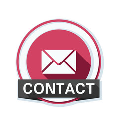 Mail contact button vector