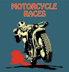 Retro poster motorcycle vector image