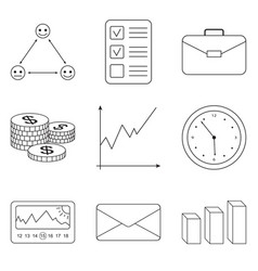 business icons set for business finance vector image vector image