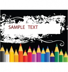 colouring pencils vector image