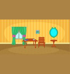interior horizontal banner cartoon style vector image