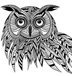 Owl bird head as halloween symbol vector image vector image