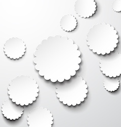 Paper white flower circles vector image vector image