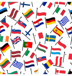 simple color curved flags all european union vector image
