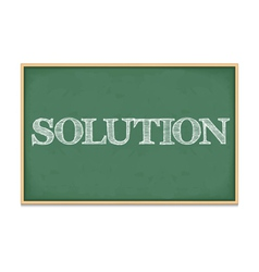 Solution vector