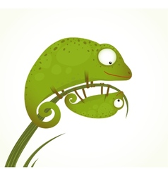 Two Lizards Mother and Baby Childish Animal vector image