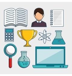 E-learning global community vector