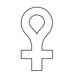 female gender symbol icon thin line vector image