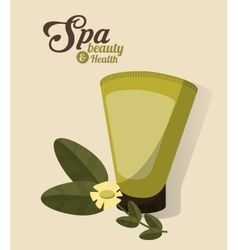 Spa beauty and health body lotion cosmetic vector